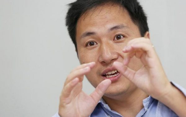 Scientist He Jiankui pictured in July 2017 before the gene-editing scandal erupted
